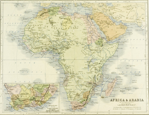 19Th Century Map Of Africa And Arabia. Engraved And Printed In 1869 By W.&A.K.Johnston. Poster Print by Ken Welsh / Design Pics - Item # VARDPI1858923