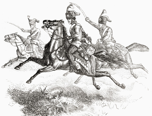 Charging Hussars Or Hussards In The 19th Century. From L'univers Illustre, Published 1866. Poster Print by Ken Welsh / Design Pics - Item # VARDPI12280824