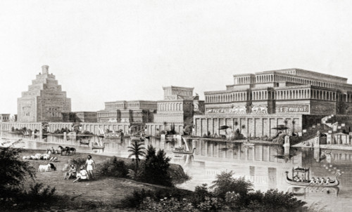 Reconstruction Of The Ancient City Of Ninevah, Assyria, Upper Mesopotamia.  From Hutchinson's History Of The Nations, Published 1915. Poster Print by Ken Welsh / Design Pics - Item # VARDPI12310134