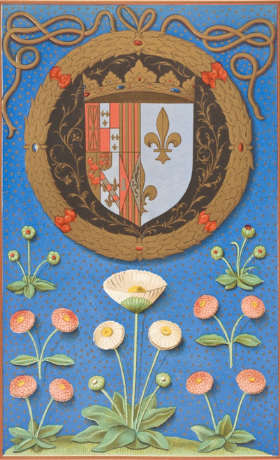 Arms And Emblematic Device Marguerite Navarre After Miniature From Initiatoire Instructive En La Religion Chrestienne MS Executed 16Th Century From Science And Literature Middle Ages Paul Lacroix Published London 1878 Ken Welsh # VARDPI1862860