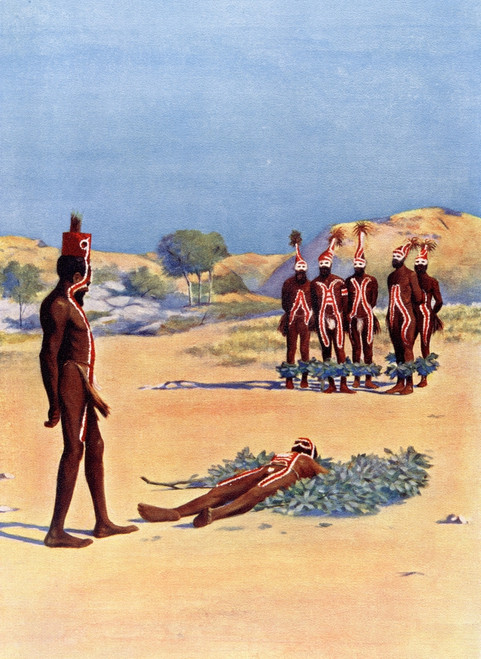A Corroboree Event Where Australian Aborigines Interact Dreamtime Through Dance Music Costume Bodies Are Painted Different Ways Special Adornments Are Worn After A 19th Century Illustration Customs World Published C1913 Ken Welsh # VARDPI12310038