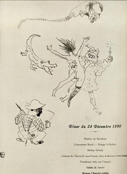 Menu Le Crocodile 1896 Lithograph Henri Marie Raymond De Toulouse-Lautrec Monfa 1864-1901 French Painter Printmaker Draftsman And Illustrator From A Photograph Knoedler From Book Toulouse Lautrec Gerstle Mack Published 1938 Ken Welsh # VARDPI1856581