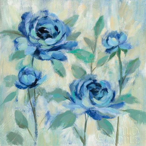 Brushy Blue Flowers I Poster Print by Silvia Vassileva - Item # VARPDX49266