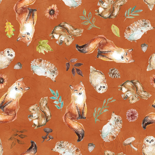 Autumn Friends Pattern IVB Poster Print by Mary Urban - Item # VARPDX49383