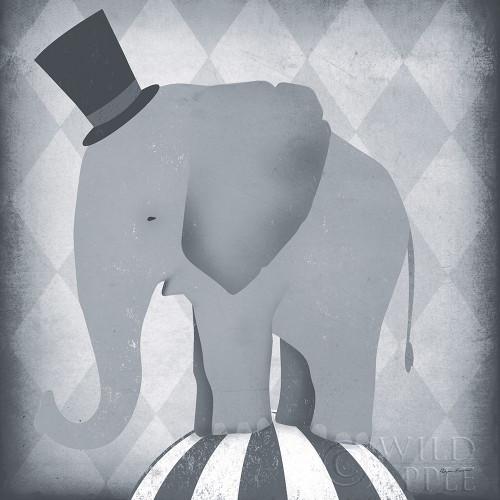 Circus Elephant Gray Poster Print by Ryan Fowler - Item # VARPDX49896
