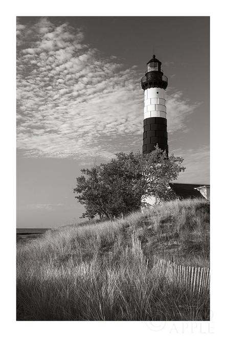 Big Sable Point Lighthouse II BW Poster Print by Alan Majchrowicz - Item # VARPDX50035