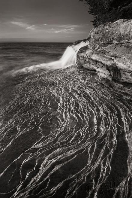 Pictured Rocks Michigan I BW Poster Print by Alan Majchrowicz - Item # VARPDX50393