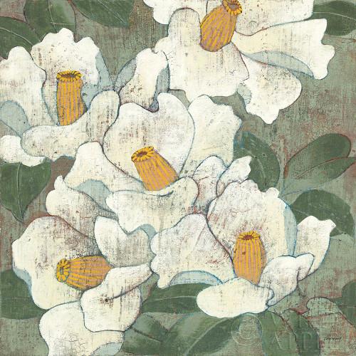 White Flowers I Dark Poster Print by Kathrine Lovell - Item # VARPDX50543
