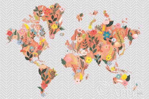 Wild Garden World Gray Poster Print by Laura Marshall - Item # VARPDX50560