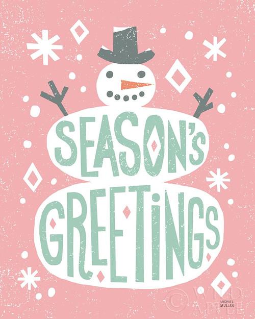 Christmas Whimsy Snowman Vintage Poster Print by Michael Mullan - Item # VARPDX50983