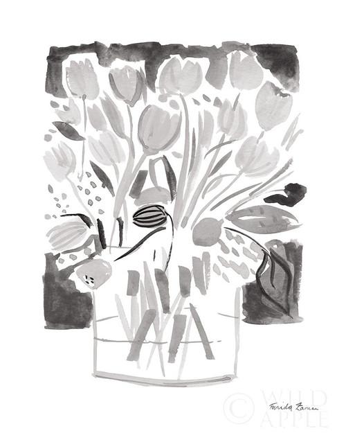 Lemon Gray Tulips I Poster Print by Farida Zaman - Item # VARPDX51127