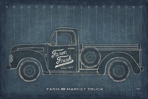 Farm Truck Blueprint Poster Print by Sue Schlabach - Item # VARPDX51517