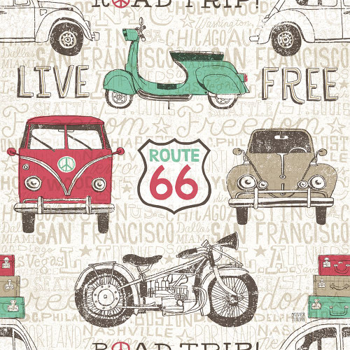 American Road Trip Pattern I Poster Print by Oliver Towne - Item # VARPDX52184