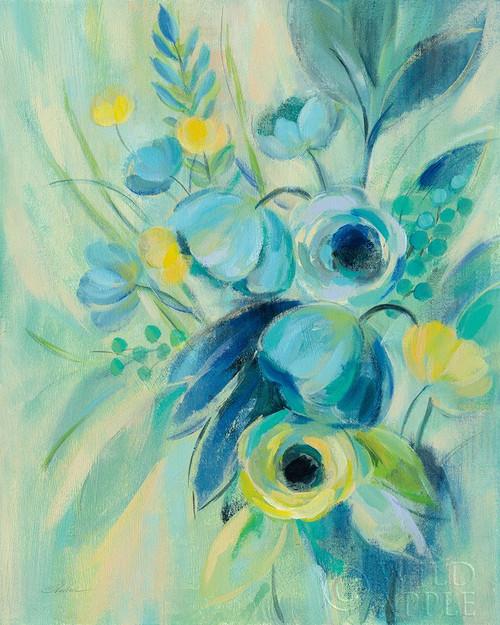 Elegant Blue Floral II Poster Print by Silvia Vassileva - Item # VARPDX52209