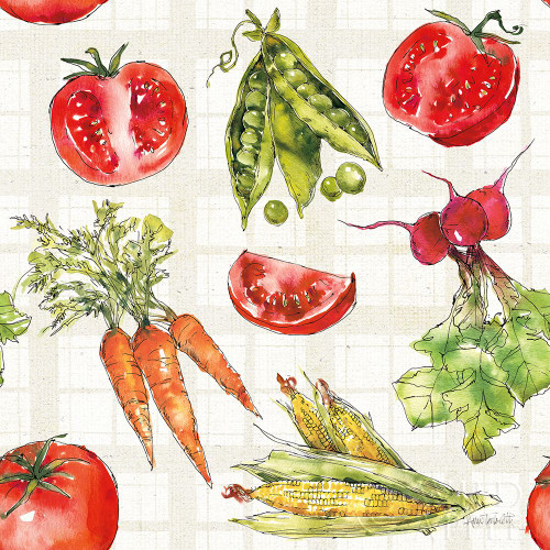 Veggie Market Pattern IA Poster Print by Anne Tavoletti - Item # VARPDX52621