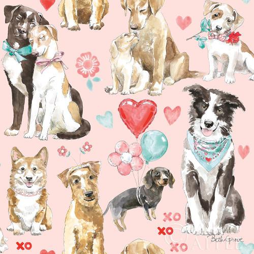 Paws of Love Pattern IB Poster Print by Beth Grove - Item # VARPDX53515
