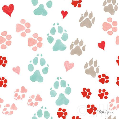 Paws of Love Pattern IIIA Poster Print by Beth Grove - Item # VARPDX53521