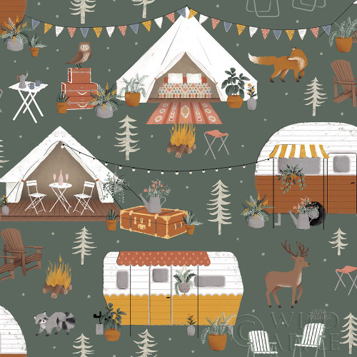 Gone Glamping Pattern ID Poster Print by Laura Marshall - Item # VARPDX53612