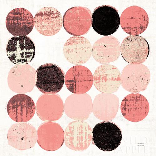 Dots II Square II Pink Black Poster Print by Michael Mullan - Item # VARPDX53753