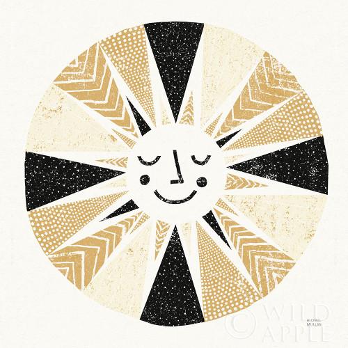 Sunshine Black Gold Sq Poster Print by Michael Mullan - Item # VARPDX53756