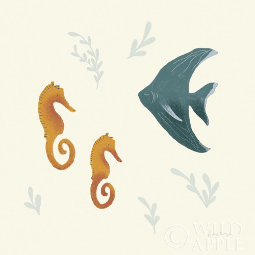 Ocean Life Seahorses Poster Print by Becky Thorns - Item # VARPDX54181