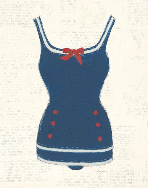 Retro Swimwear I Newsprint Poster Print by Emily Adams - Item # VARPDX54336