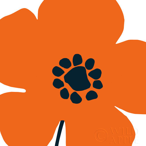 Pop Art Floral I Orange Poster Print by Wild Apple Portfolio Wild Apple Portfolio - Item # VARPDX54536