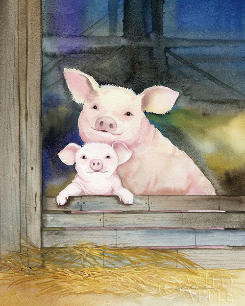 Farm Family Pigs Poster Print by Kathleen Parr McKenna - Item # VARPDX55014