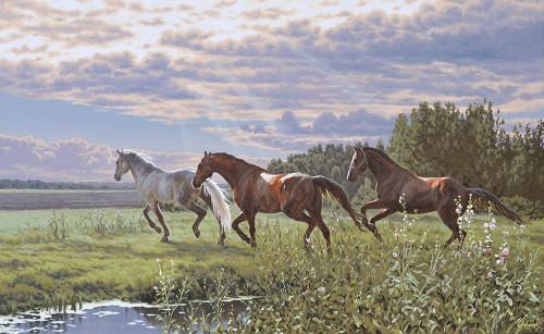 Three Running Horses Poster Print by Alexey Adamov - Item # VARPDX6ALA89