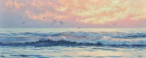 Surf by Sunset Poster Print by Alexey Adamov - Item # VARPDX7ALA120