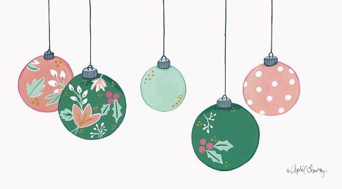 Floral Christmas Ornaments Poster Print by April Chavez - Item # VARPDXAC141