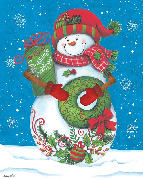 Snowman with Wreaths Poster Print by Diane Kater - Item # VARPDXART1127