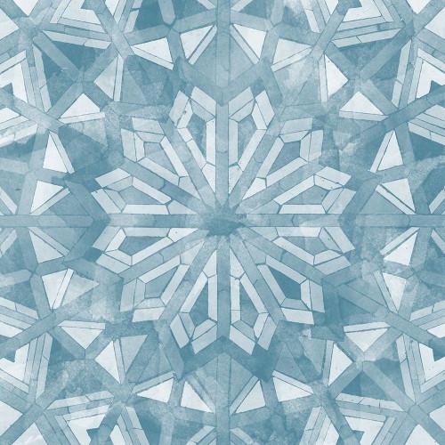 Blue Tile Light 6 Poster Print by Alonzo Saunders - Item # VARPDXASSQ118E