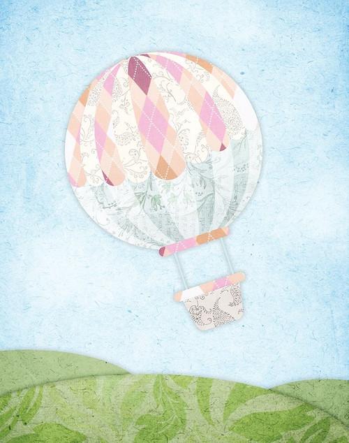 Hot Air Balloon Poster Print by Alicia Vidal - Item # VARPDXAVRC007A