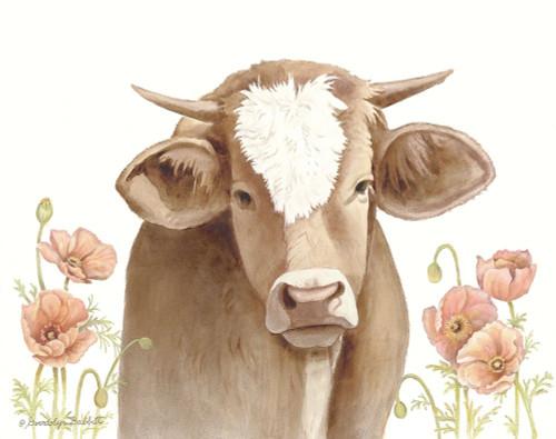Poppy Cow Poster Print by Gwendolyn Babbitt - Item # VARPDXBAB496