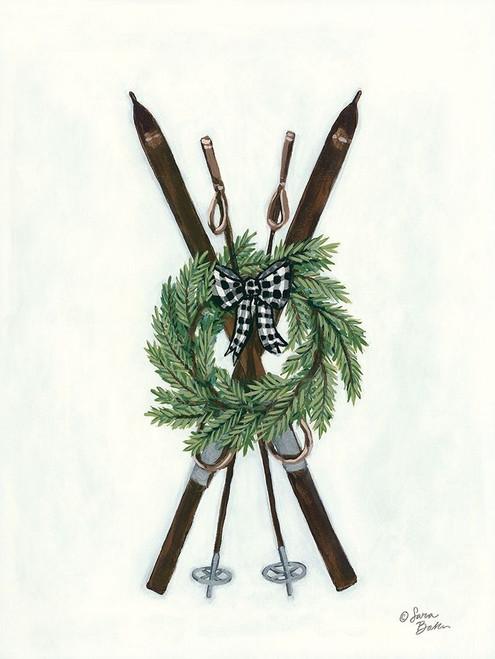 Vintage Winter Skis Poster Print by Sara Baker - Item # VARPDXBAKE119