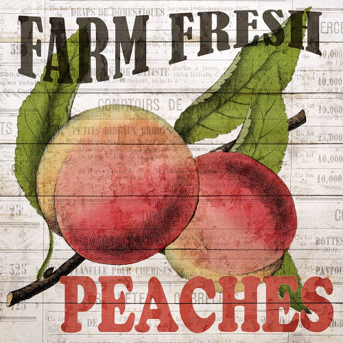 Fresh Picked Peaches Poster Print by Ann Bailey - Item # VARPDXBASQ001C