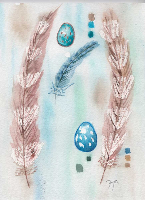 Feather and Egg Study Poster Print by Beverly Dyer - Item # VARPDXBDRC137A