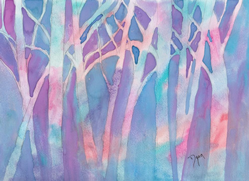 Stained Glass Trees Poster Print by Beverly Dyer - Item # VARPDXBDRC188