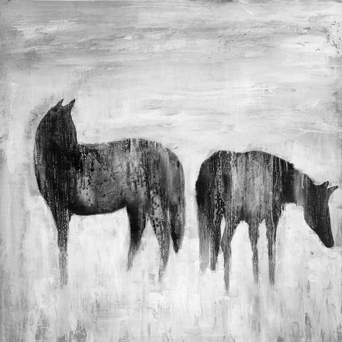 HORSES SILHOUETTES IN THE MIST Poster Print by Atelier B Art Studio Atelier B Art Studio - Item # VARPDXBEGANI1