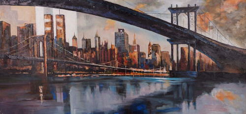 BRIDGE IN THE CITY AT SUNSET Poster Print by Atelier B Art Studio Atelier B Art Studio - Item # VARPDXBEGCIT236