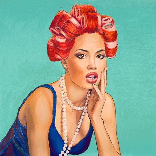 PIN UP GIRL WITH CURLERS Poster Print by Atelier B Art Studio Atelier B Art Studio - Item # VARPDXBEGPOP6