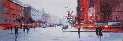 BLACK AND RED STREET SCENE Poster Print by Atelier B Art Studio Atelier B Art Studio - Item # VARPDXBEGSTS14