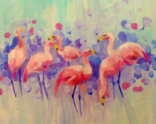 Flamingo Party Poster Print by Boho Hue Studio Boho Hue Studio - Item # VARPDXBHSRC003A
