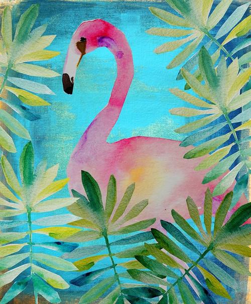 Palm Flamingo 2 Poster Print by Boho Hue Studio Boho Hue Studio - Item # VARPDXBHSRC026F