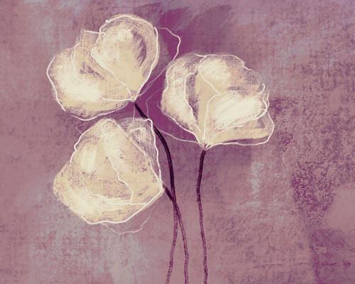 Sketched Flowers on Purple Poster Print by Boho Hue Studio Boho Hue Studio - Item # VARPDXBHSRC047A