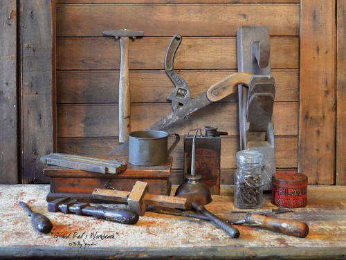Grand Dads Work Bench Poster Print by Billy Jacobs - Item # VARPDXBJ1157