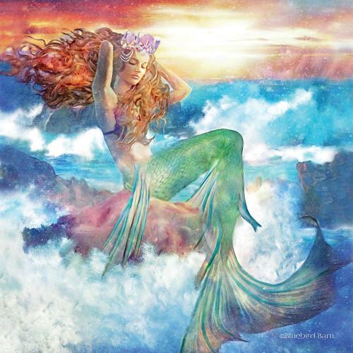 Sunset Mermaid Poster Print by Bluebird Barn Bluebird Barn - Item # VARPDXBLUE127