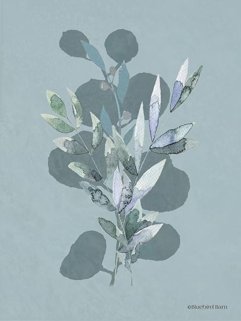 Watercolor Greenery Series Medium Teal I Poster Print by Bluebird Barn Bluebird Barn - Item # VARPDXBLUE303