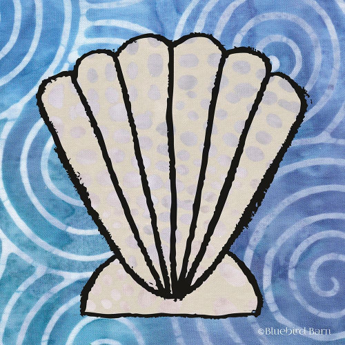 Whimsy Coastal Clam Shell Poster Print by Bluebird Barn Bluebird Barn - Item # VARPDXBLUE312